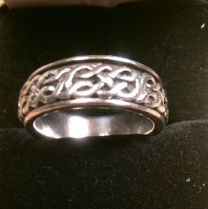 Other - Stamped 925-Sterling Silver-Rotating Ring - Sz 10+